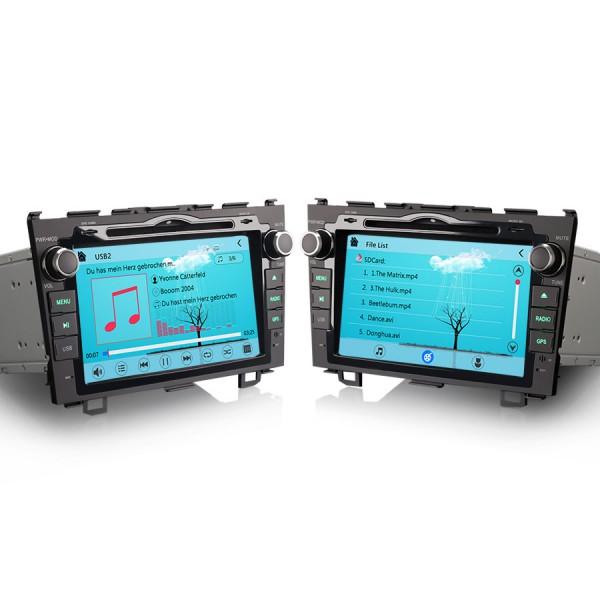 2 din multimediální autorádio s navigací pro HONDA CR-V
