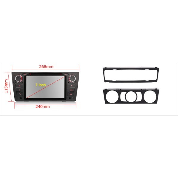 2din autorádio navigace Carmes CRM-7109 pro BMW E90