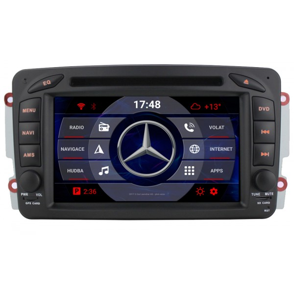 2din autorádio navigace Carmes CRM-7507 pro MERCEDES-BENZ C, CLK, Vito, Viano