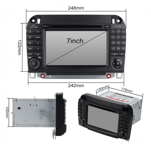 2din autorádio navigace Carmes CRM-7509 pro MERCEDES-BENZ S, CL