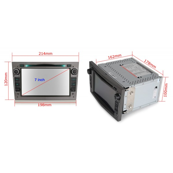 2din autorádio navigace Carmes CRM-7681 pro OPEL