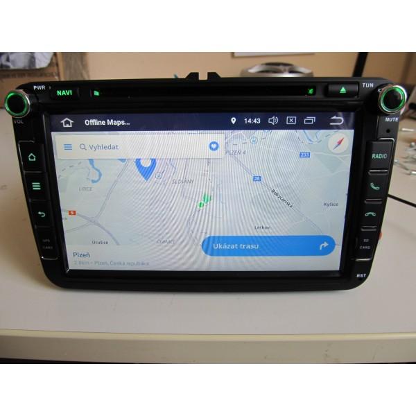 2din autorádio navigace Carmes CRM-8405 pro VW