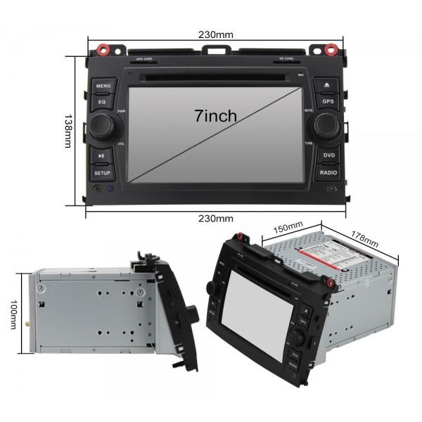 2din autorádio navigace Carmes CRM-7688 pro TOYOTA CRUISER