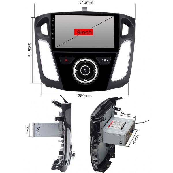 2din autorádio navigace Carmes CRM-9007 pro FORD FOCUS MKIII