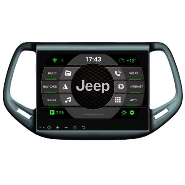 2din autorádio navigace Carmes CRM-1098 pro JEEP Compass