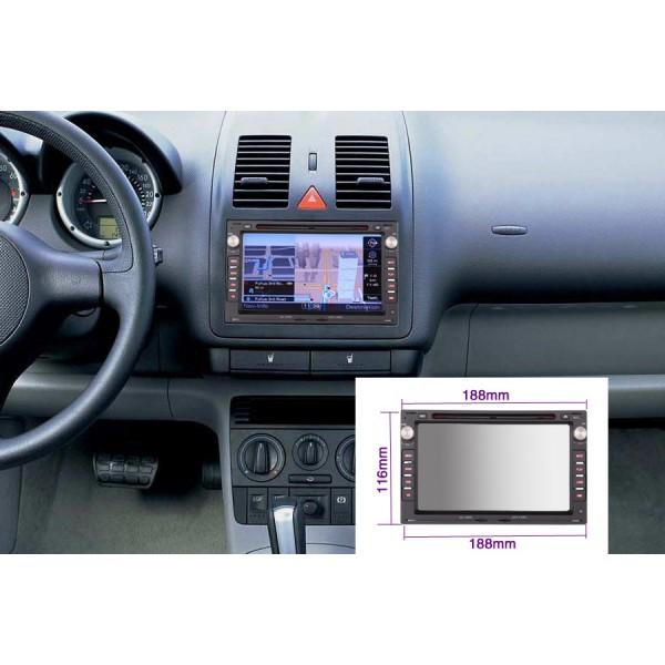 2 din multimediální autorádio s navigací pro VW PASSAT B5/POLO/BORA a další