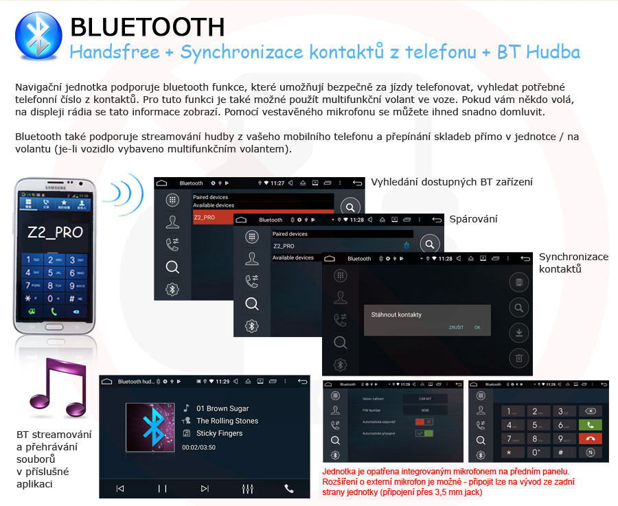 Carmes 2din Android Bluetooth