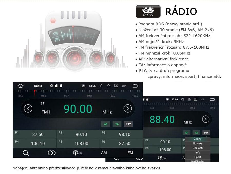 Carmes 2din Android FM rádio