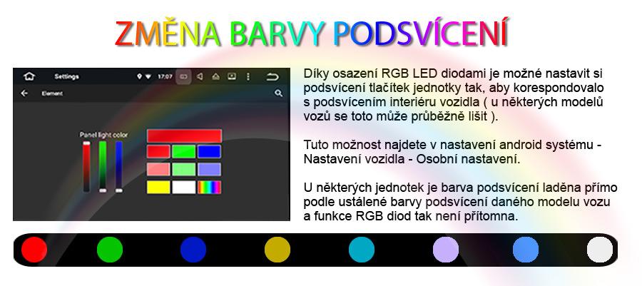 Carmes 2din Android podsvícení tlačítek