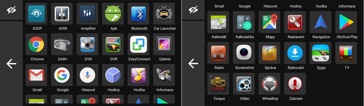 Carmes 2din Android základní aplikace