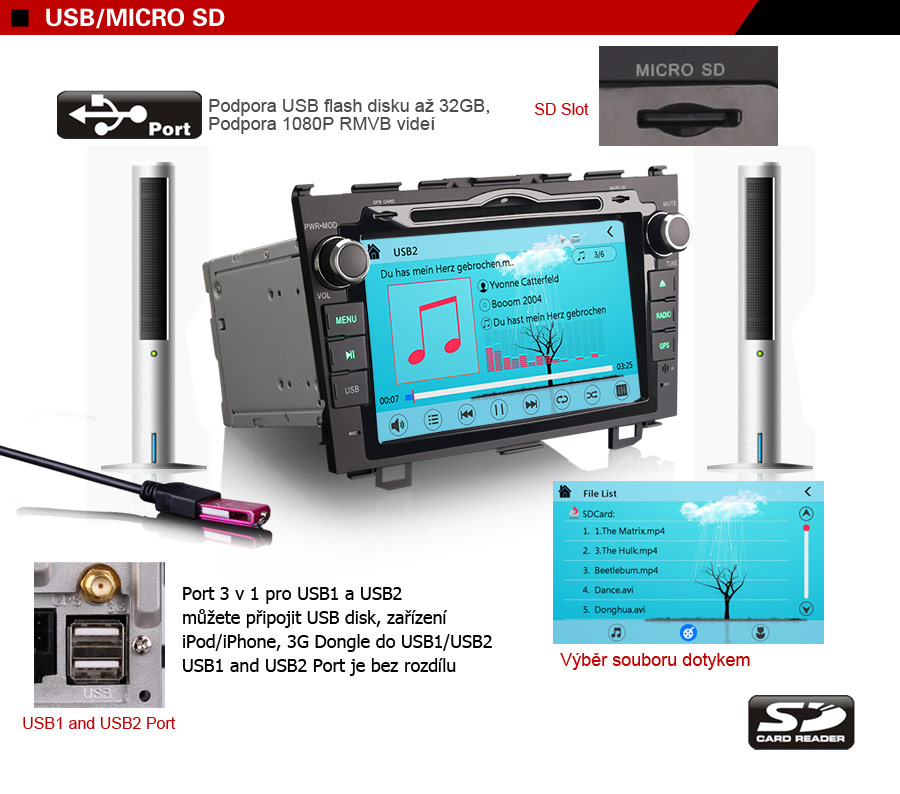 honda-8-palcu-da7659m-2din-autoradio-USB-mikro-SD